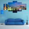 Port of Kobe at night, Osaka, Japan multi panel canvas wall art