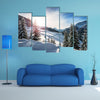 Beautiful Canvas Of Winter In Alps Multi Panel Canvas Wall Art