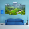 Green Rice fields on terraced in Mu cang chai, Vietnam multi panel canvas wall art