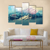 Mountain peak Multi panel canvas wall art