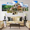 Estaing - one of the most beautiful vilages of France Multi Panel Canvas Wall Art