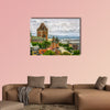 Ottawa city skyline at sunrise in the morning over river with urban historical buildings and colorful cloud Multi panel canvas wall art