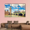 Big Ben and Westminster bridge in London multi panel canvas wall art