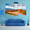 Colorfull autumn morning in the Carpathian mountains Borzhava ridge, Ukraine, Europe multi panel canvas wall art