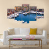 Marina of Monte Carlo in Monaco Multi panel canvas wall art