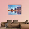 Paris skyline cityscape Multi panel canvas wall art