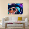high contrast image of casino roulette in motion Multi panel canvas wall art