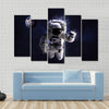 Astronaut In Water Multi Panel Canvas Wall Art