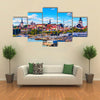 Old Town and sea port harbor in Tallinn, Estonia multi panel canvas wall art