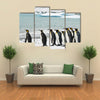 King Penguins In Icy Bay Multi Panel Canvas Wall Art