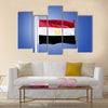 Flag of Egypt flying against a blue sky Multi panel canvas wall art