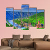 View over Cochem on the Moselle in Germany multi panel canvas wall art