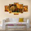 Tranquil autumn scenery Multi panel canvas wall art