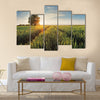 Wheat field at sunset Multi panel canvas wall art