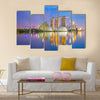 Singapore cityscapes at twilight, Multi Panel Canvas Wall Art