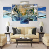 Earth is immersed in water Multi Panel Canvas Wall Art