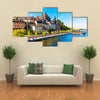 Scene Of A Summer View With Flowing Blue Water, Multi Panel Canvas Wall Art