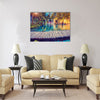 Majestic view on turquoise water and sunny beams Multi panel canvas wall art