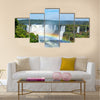 Iguazu Falls, on the border of Argentina, Brazil and Paraguay Multi panel canvas wall art