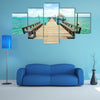 Wooden pier on summer season in Kho mak Thailand Multi Panel Canvas Wall Art