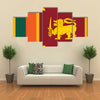 Vector Illustration of Flag of Sri Lanka Multi Panel Canvas Wall Art