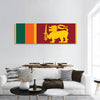 Flag of Sri Lanka panoramic canvas wall art