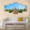 On Sunny Day with Clear Blue SkyExterior of Palau Nacional on Montjuic Hill in Barcelona, Spainmulti panel canvas wall art