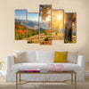 Early Morning Autumnal Landscape Multi panel canvas wall art