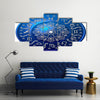 Blue Horoscope Multi Panel Canvas Wall Art