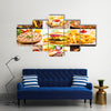 Collage of various fast food products Multi panel canvas wall art