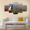 A giant Mexican national flag above Mexico City Multi panel canvas wall art