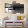 3D render of submarine on a background of a sunset on the sea Multi panel canvas wall art