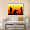 Soldiers Performing A Military Operation Multi Panel Canvas Wall Art