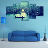 Skyline Of Shanghai At Sunset In China Multi Panel Canvas Wall Art