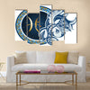 Illustration Of Zodiac Sign Pisces Multi Panel Canvas Wall Art