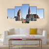 Christ Church, famous Lutheran church landmark in Windhoek, Namibia Multi panel canvas wall art