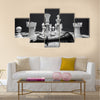 Chess white wins 3D render of chess pieces multi panel canvas wall art