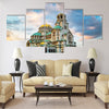 St. Alexander Nevsky Cathedral in the center of Sofia Multi panel canvas wall art