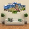Sant Esteve church in Andorra Multi panel canvas wall art
