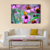 Monarch Butterfly on Cone Flowers Multi Panel Canvas Wall Art
