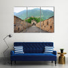 Great Wall of China on a clear day Multi panel canvas wall art