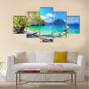 Beautiful tropical beach scene multi panel canvas wall art