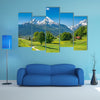 View Of A Summer Landscape In Alps Multi Panel Canvas Wall Art