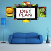 Beautiful canvas of Diet plan Multi panel canvas wall art