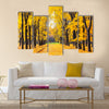 Alley in the bright autumn park Multi panel canvas wall art