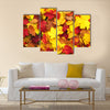 Background of fallen autumn leaves Multi panel canvas wall art