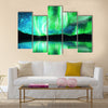 Northern lights ,aurora borealis Multi panel canvas wall art