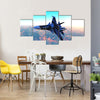Russian Warplane Flying Multi Panel Canvas Wall Art