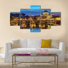 Sunset at Rome with Saint Peter's Basilica - Rome - Italy Multi panel canvas wall art