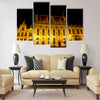 The Burg Square in Bruges Multi panel canvas wall art